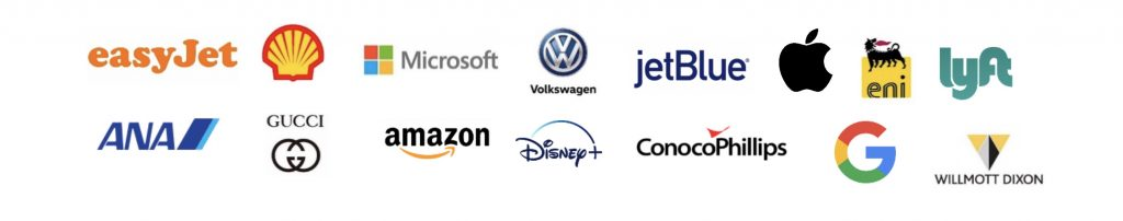 List of company logos committed to reducing carbon output