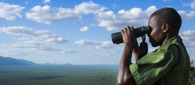 Wildlife Works Ranger Overlooking Kasigau Corridor REDD+ Project in Keyna (Photo Credit Lisa Kristine)