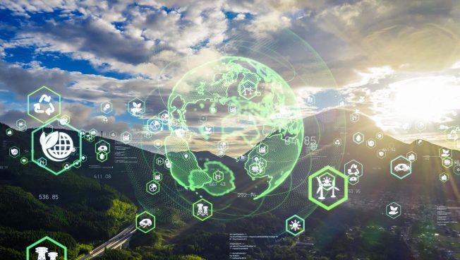 Environmental technology concept. Sustainable development goals